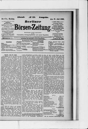 Berliner Börsen-Zeitung vom 21.07.1902