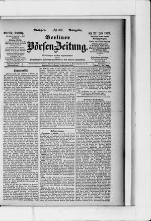 Berliner Börsen-Zeitung vom 22.07.1902