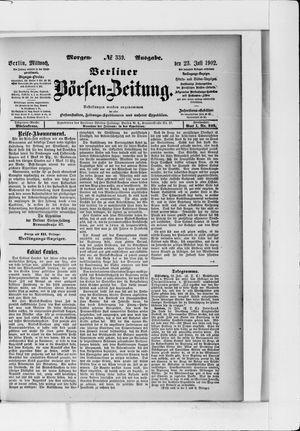 Berliner Börsen-Zeitung vom 23.07.1902