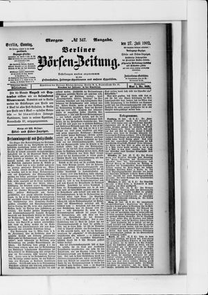 Berliner Börsen-Zeitung vom 27.07.1902