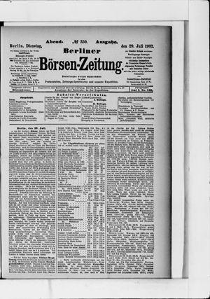 Berliner Börsen-Zeitung vom 29.07.1902