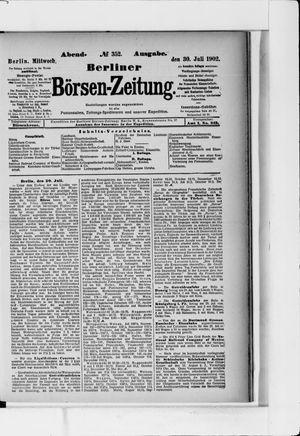 Berliner Börsen-Zeitung vom 30.07.1902