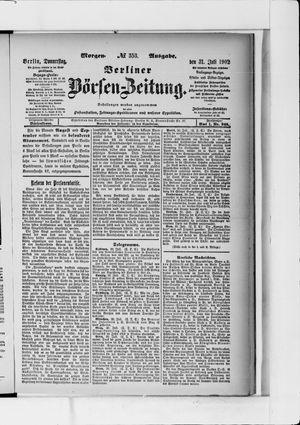 Berliner Börsen-Zeitung vom 31.07.1902