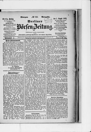 Berliner Börsen-Zeitung vom 01.08.1902