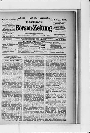 Berliner Börsen-Zeitung vom 02.08.1902