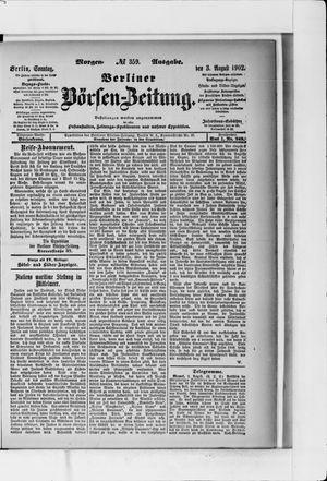 Berliner Börsen-Zeitung vom 03.08.1902