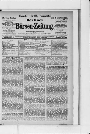Berliner Börsen-Zeitung vom 04.08.1902
