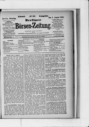 Berliner Börsen-Zeitung vom 05.08.1902