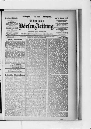 Berliner Börsen-Zeitung vom 06.08.1902