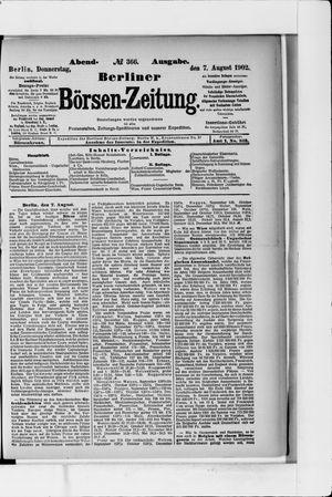 Berliner Börsen-Zeitung vom 07.08.1902