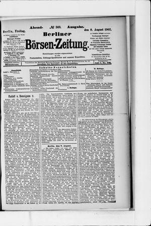Berliner Börsen-Zeitung vom 08.08.1902