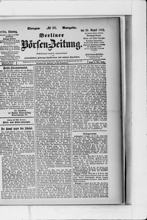 Berliner Börsen-Zeitung vom 10.08.1902
