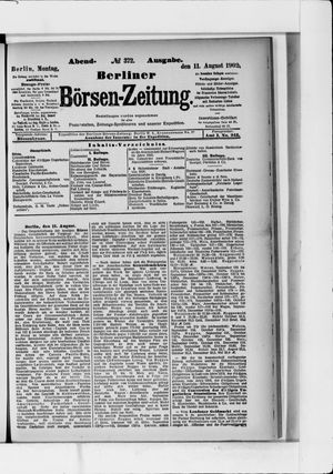 Berliner Börsen-Zeitung vom 11.08.1902