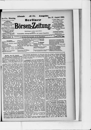 Berliner Börsen-Zeitung vom 12.08.1902
