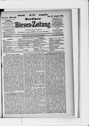 Berliner Börsen-Zeitung vom 13.08.1902