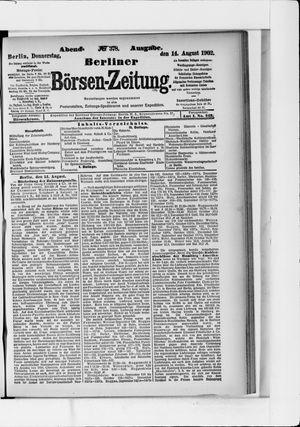 Berliner Börsen-Zeitung vom 14.08.1902