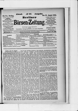 Berliner Börsen-Zeitung vom 15.08.1902