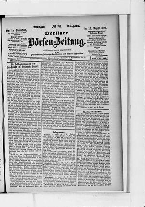 Berliner Börsen-Zeitung vom 16.08.1902