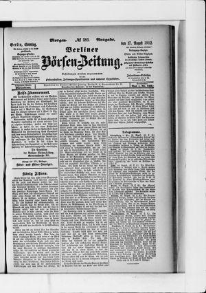 Berliner Börsen-Zeitung vom 17.08.1902