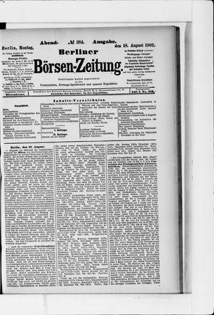 Berliner Börsen-Zeitung vom 18.08.1902