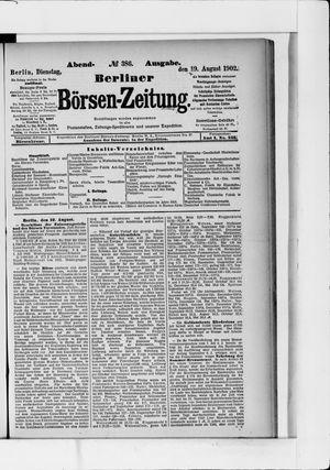 Berliner Börsen-Zeitung vom 19.08.1902
