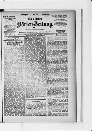 Berliner Börsen-Zeitung vom 20.08.1902