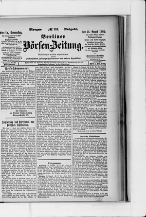Berliner Börsen-Zeitung vom 21.08.1902