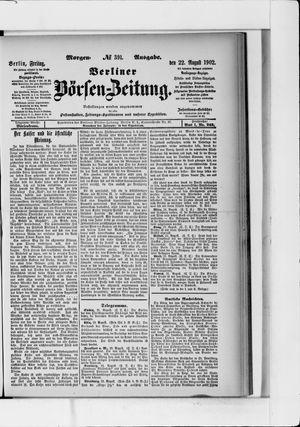 Berliner Börsen-Zeitung vom 22.08.1902
