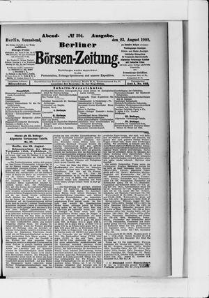 Berliner Börsen-Zeitung vom 23.08.1902