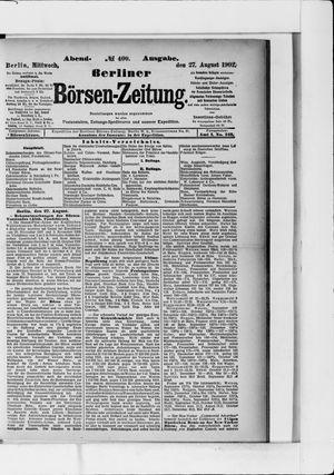 Berliner Börsen-Zeitung vom 27.08.1902