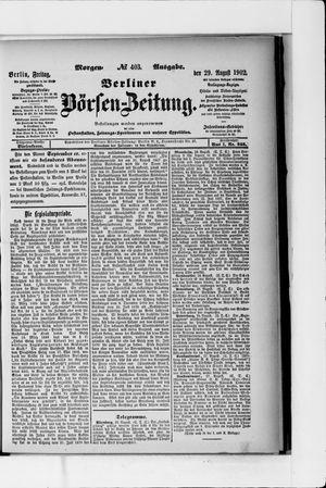 Berliner Börsen-Zeitung vom 29.08.1902