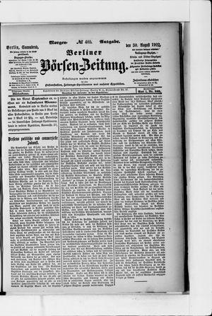 Berliner Börsen-Zeitung vom 30.08.1902