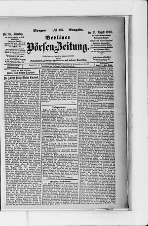 Berliner Börsen-Zeitung vom 31.08.1902