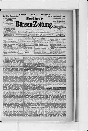 Berliner Börsen-Zeitung vom 04.09.1902