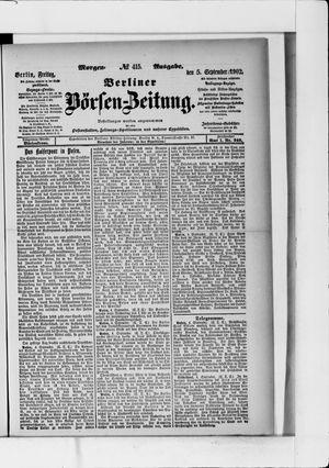 Berliner Börsen-Zeitung vom 05.09.1902