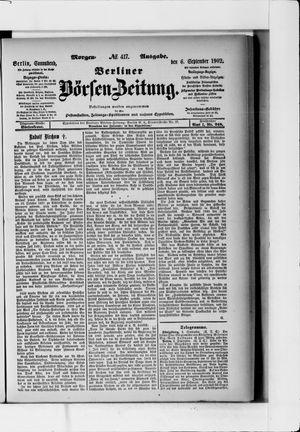 Berliner Börsen-Zeitung vom 06.09.1902