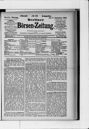 Berliner Börsen-Zeitung vom 09.09.1902
