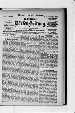 Berliner Börsen-Zeitung vom 10.09.1902