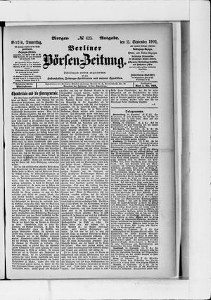 Berliner Börsen-Zeitung vom 11.09.1902