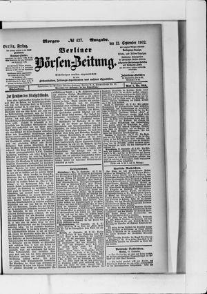Berliner Börsen-Zeitung vom 12.09.1902