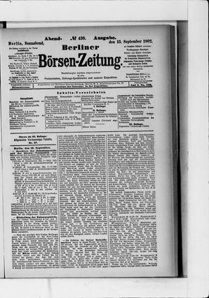 Berliner Börsen-Zeitung vom 13.09.1902