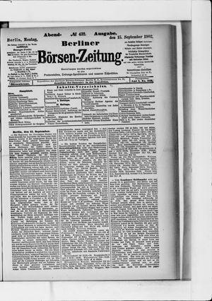 Berliner Börsen-Zeitung vom 15.09.1902