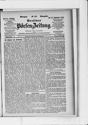 Berliner Börsen-Zeitung vom 16.09.1902