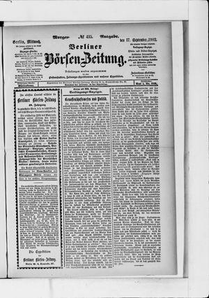 Berliner Börsen-Zeitung vom 17.09.1902