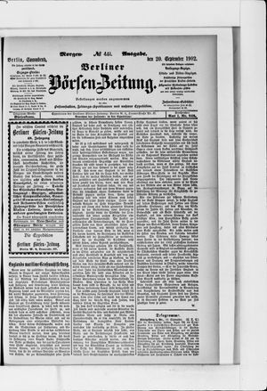 Berliner Börsen-Zeitung vom 20.09.1902