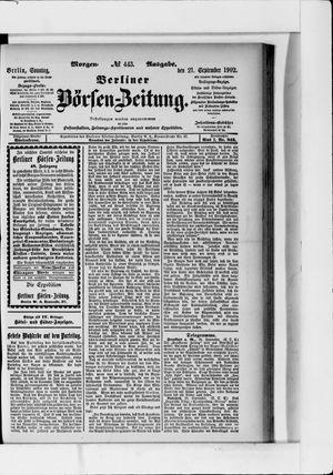 Berliner Börsen-Zeitung vom 21.09.1902