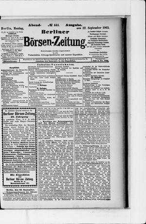Berliner Börsen-Zeitung vom 22.09.1902