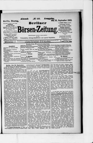 Berliner Börsen-Zeitung vom 23.09.1902