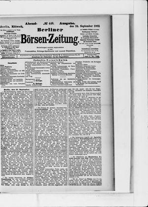 Berliner Börsen-Zeitung vom 24.09.1902