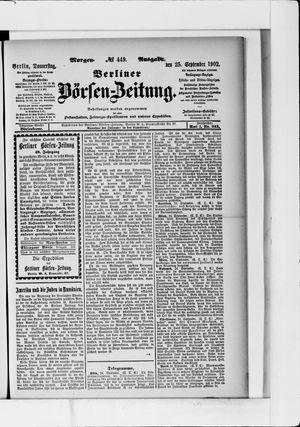 Berliner Börsen-Zeitung vom 25.09.1902